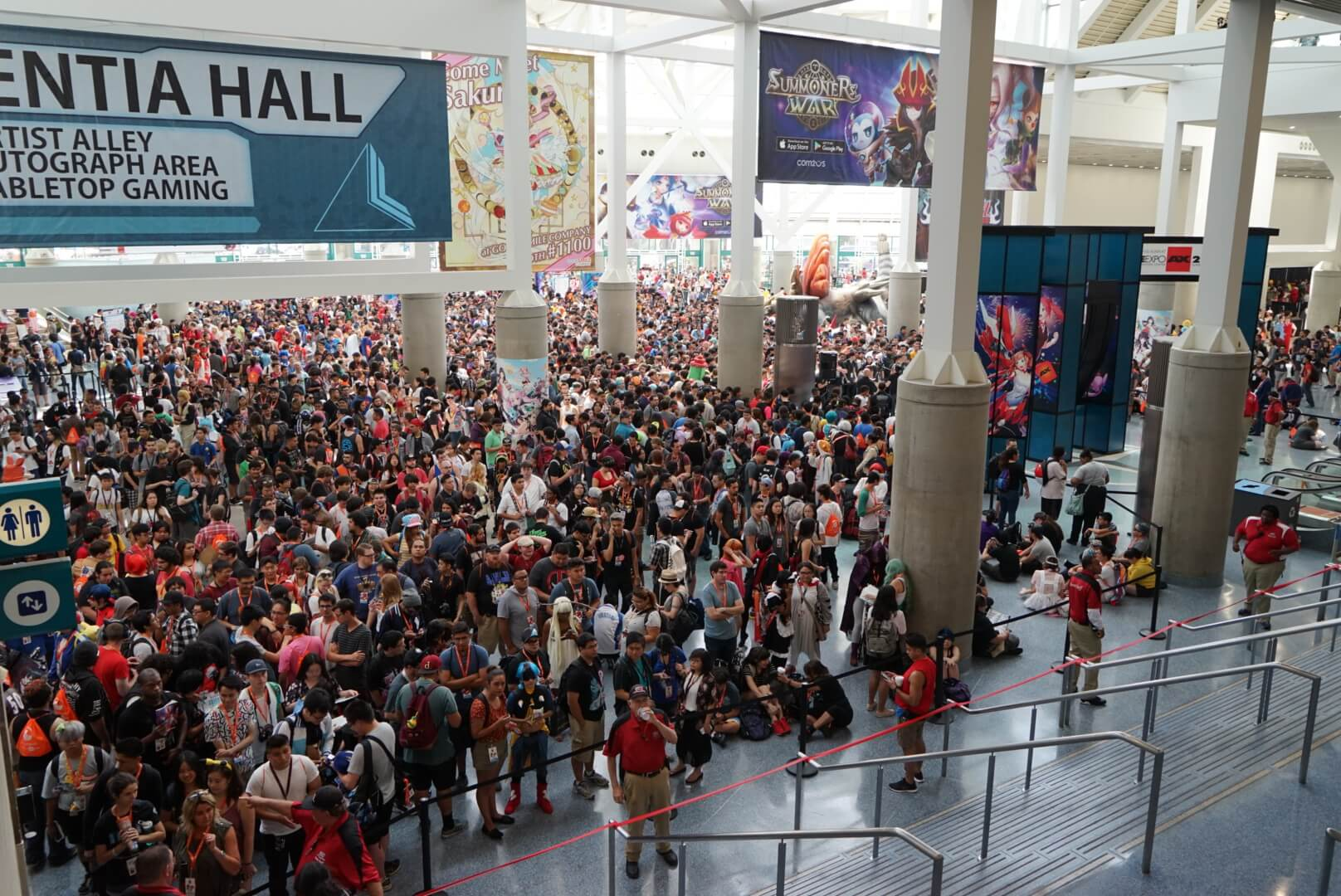 Anime expo crowd